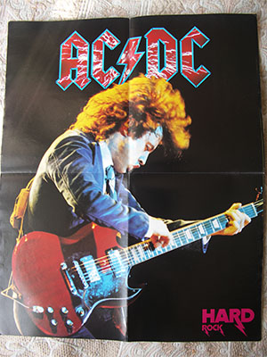 редкие плакаты AC / DC