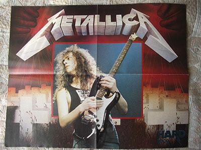 плакат metallica poster восьмедесятых годов  в идеальном новом состоянии
