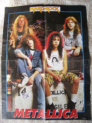 новый плакат metallica 1988 года