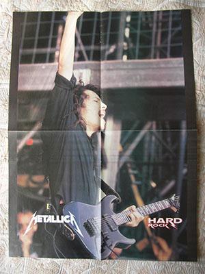 плакат Metallica Kirk Hammett poster постер