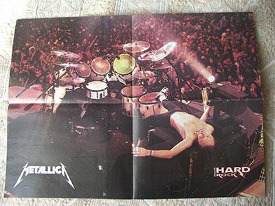 плакат Metallica Lars Ulrich 2 poster постер