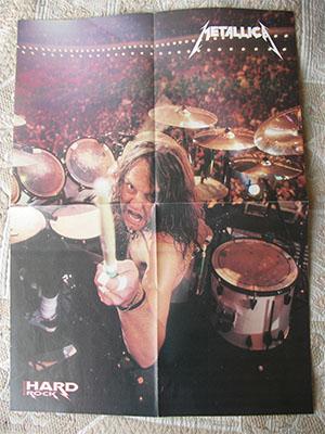 плакат Metallica Lars Ulrich poster постер