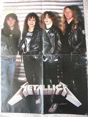 редкие плакаты группы Metallica