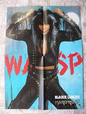 редкие плакаты группы W.A.S.P.