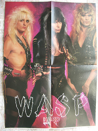 w.a.s.p. poster 1989