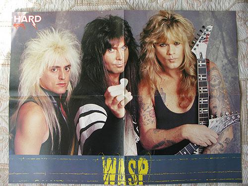 плакат w.a.s.p. poster восьмедесятых годов  в идеальном новом состоянии