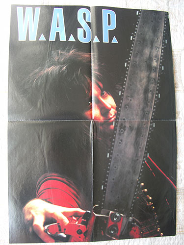 новый плакат w.a.s.p. 1988 года